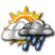 Mostly Cloudy with Isolated Showers